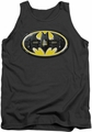 Batman tank top Bat Mech Logo adult charcoal