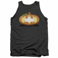 Batman tank top Bat Pumpkin Logo adult charcoal