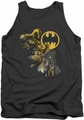 Batman tank top Bat Signal adult charcoal