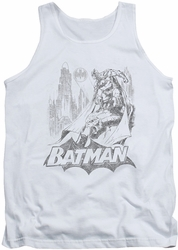 Batman tank top Bat Sketch adult white