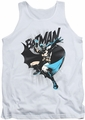Batman tank top Batarang Throw adult white