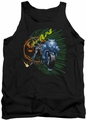 Batman tank top Batcycle adult black