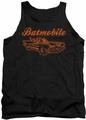 Batman tank top Batmobile adult black