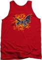 Batman tank top Bats Don't Scare Me adult red