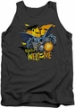 Batman tank top Bats Welcome adult charcoal