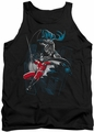Batman tank top Black And White adult black