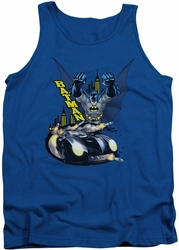 Batman tank top By Air & By Land adult royal