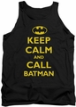 Batman tank top Call Batman adult black