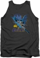 Batman tank top Cape Outstretched adult charcoal