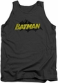 Batman tank top Classic Comic Logo adult charcoal