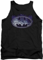Batman tank top Cracked Shield adult black