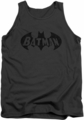 Batman tank top Crackle Bat adult charcoal