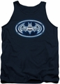 Batman tank top Cyber Bat Shield adult navy