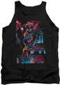 Batman tank top Dark Knight Panels adult black