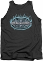Batman tank top Dark Knight Steel Shield adult charcoal