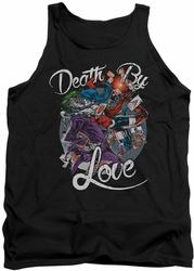 Harley Quinn tank top Death By Love adult black