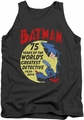 Batman tank top Detective 75 adult charcoal