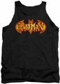 Batman tank top Fiery Shield adult black