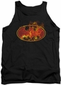 Batman tank top Flames Logo adult black