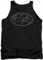 Batman tank top Glass Hole Logo adult black
