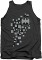 Batman tank top Gotham 3D adult charcoal