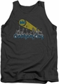 Batman tank top Gotham City Distressed adult charcoal