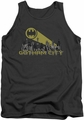 Batman tank top Gotham Skyline adult charcoal