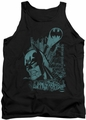 Batman tank top Gritted Teeth adult black