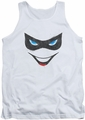 Harley Quinn tank top Harley Face adult white