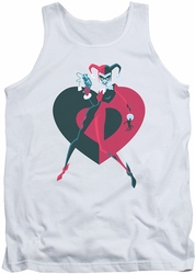 Harley Quinn tank top Harley Quinn Harely Heart adult white