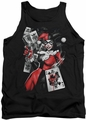 Harley Quinn tank top Smoking Gun adult black