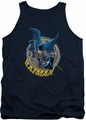Batman tank top In The Crosshairs adult navy