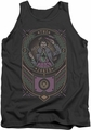 Joker tank top Checkered Sign adult charcoal