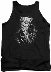 Joker tank top Splatter Smile adult black