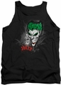 Joker tank top Joker Sprays The City adult black