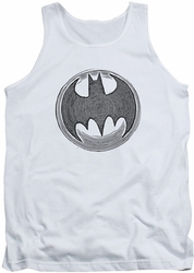 Batman tank top Knight Knockout adult white