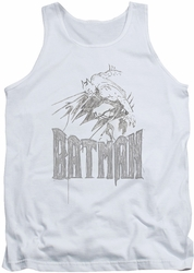 Batman tank top Knight Sketch adult white