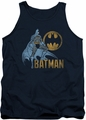 Batman tank top Knight Watch adult navy