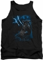 Batman tank top Lightning Strikes adult black