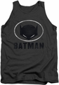 Batman tank top Mask In Oval adult charcoal