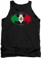 Batman tank top Mexican Flag Shield adult black