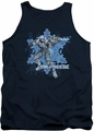 Mr Freeze tank top Mr Freeze adult navy