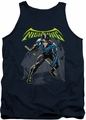 Batman tank top Nightwing adult navy