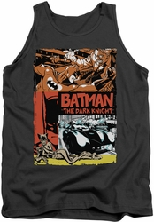 Batman tank top Old Movie Poster adult charcoal