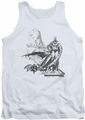 Batman tank top Overseer adult white