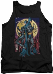 Batman tank top Paint The Town Red adult black
