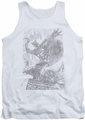 Batman tank top Pencil Batarang Throw adult white