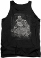Batman tank top Pencilled Rain adult black