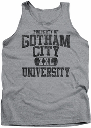 Batman tank top Property Of Gcu adult heather