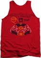 Batman tank top Ready For Action adult red